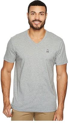 Psycho Bunny V-Neck Heather T-Shirt (Heather Grey) Men's T Shirt