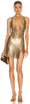 Fannie Schiavoni Maia Dress in Gold | FWRD