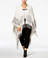 Love Squared Trendy Plus Size Hooded Poncho