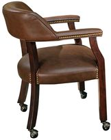 Branton home Tournament Rolling Captain's Dining Chair