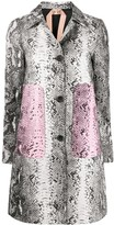 No.21 snakeskin print single-breasted coat