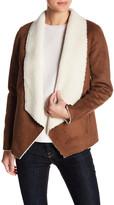 The Kooples Faux Shearling Drape Jacket