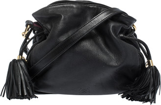 Loewe Black Leather Flamenco Crossbody Bag