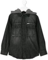 Diesel hooded denim shirt