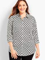 Talbots Womans Exclusive The Longer-Length Long-Sleeve Shirt - Lattice