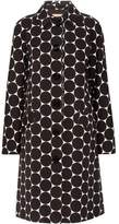 Michael Kors Polka-Dot Cotton And Silk-Blend Matelassé Coat