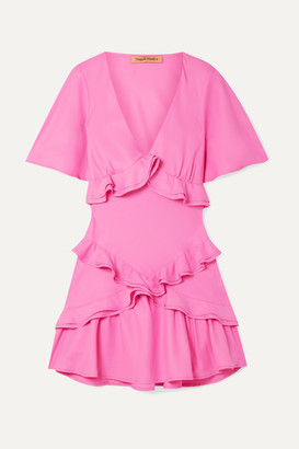 Maggie Marilyn + Net Sustain The Jones Ruffled Crepe De Chine Mini Dress - Pink