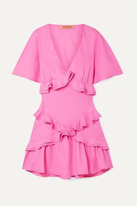 Maggie Marilyn + Net Sustain The Jones Ruffled Recycled Crepe De Chine Mini Dress - Pink