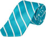 Ike Behar Aqua Sunday Stripe Silk Tie