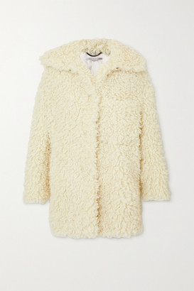 Stella McCartney Oversized Faux Shearling Coat - Cream