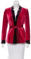 Les Copains Velvet Belted Jacket