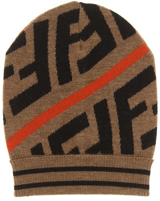 Fendi FF cotton-blend beanie