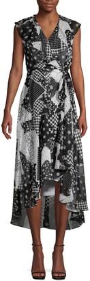 Calvin Klein Collection Printed Chiffon Dress
