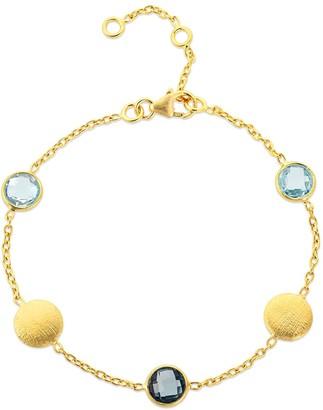 Auree Jewellery Como Blue Topaz, London Topaz & Yellow Gold Vermeil Bracelet