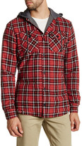 Globe Alford Contrast Hooded Plaid Shirt