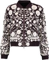 Needle & Thread Embellished chiffon bomber jacket