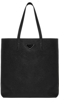 Prada Logo-plaque Saffiano Leather Tote Bag