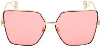 Gucci Fs Evolution Square Metal Sunglasses