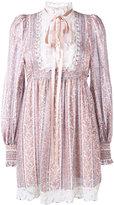 Marc Jacobs paisley stripe gauze long sleeve dress - women - Cotton/Silk - 4