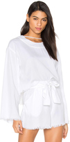 KENDALL + KYLIE Frayed Twill Top