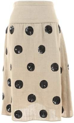 Valentino Beige Linen Skirts