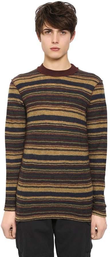 Maison Margiela Striped Wool Jersey Sweater