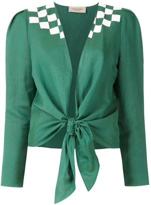 Adriana Degreas tie Wimblendon shirt