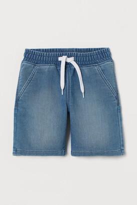 H&M Denim Pull-on Shorts - Blue