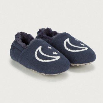 The White Company Children's Glow in the Dark Star Slippers, Blue, 3/4