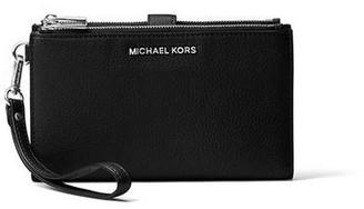 MICHAEL Michael Kors Jet Set Double Zip Wristlet Black