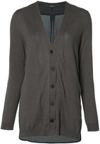 Ann Demeulemeester V-neck cardigan - women - Silk/Cotton/Cashmere - 36