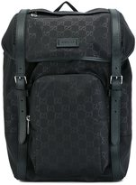 Gucci logo print backpack - men - Leather/Nylon - One Size