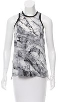 Helmut Lang Silk Printed Top w/ Tags