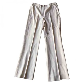 Georges Rech Ecru Wool Trousers for Women