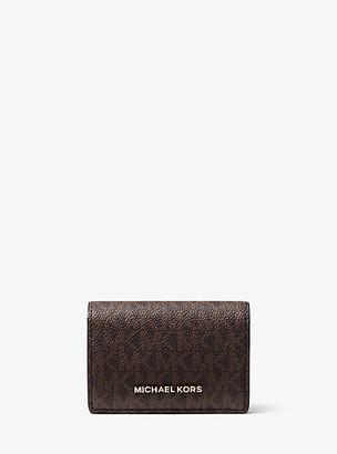 Michael Kors Small Two-Tone Logo Wallet