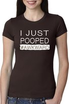 Crazy Dog T-shirts Crazy Dog Tshirts Women's I Just Pooped T Shirt Funny Poop Tee Hashtag Shirt For Women XL