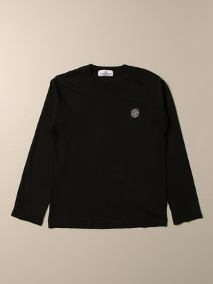 Stone Island Junior T-shirt In Cotton With Logo
