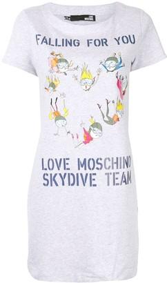 Love Moschino Skydive Team T-shirt dress