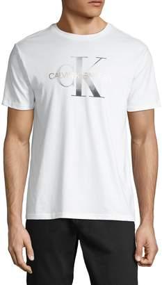 Calvin Klein Jeans Logo Short-Sleeve Cotton Tee