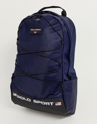Polo Ralph Lauren backpack in navy with logo