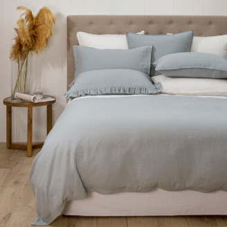 Wallace Cotton - Super King Dove Linen Loft Duvet Set - linen | Dove