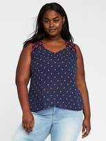Old Navy Relaxed Plus-Size Embroidered-Yoke Top