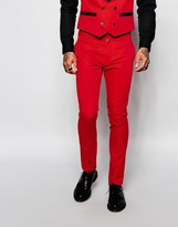 Religion Suit Trousers In Skinny Fit