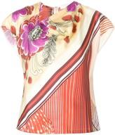 Chloé cowl neck printed top