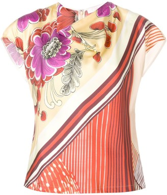 Chloé Cowl Neck Printed Top
