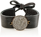 Feathered Soul Women's Black Diamond & Leather Bracelet
