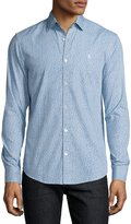Original Penguin Floral-Print Cotton Shirt, Blue