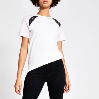 River Island Womens White Maison Riviera colour blocked T-shirt