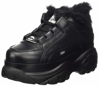 Buffalo London Womens Low-Top Sneakers BLACK 5 UK