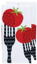 T-Fal Fork Print Dual Kitchen Dishcloth